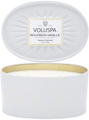 Voluspa 2-Wick Oval Tin Candle - Bourbon Vanille