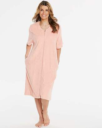 Pretty Secrets Peach Zip Gown