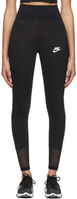 Nike Black Mesh Tight-Fit Leggings