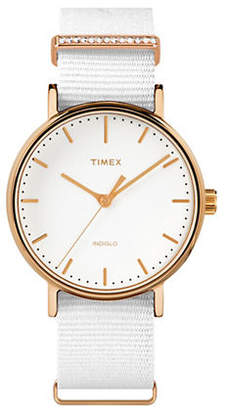Timex BOUTIQUE Analog Fairfield Fabric Strap Watch