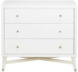 DwellStudio Mid-Century 3 Drawer French White Dresser