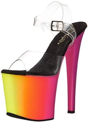 Pleaser USA Women's Rbow708uv/C/Nmc Platform Dress Sandal