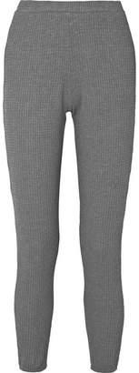 Eberjey Ula Waffle-knit Modal-blend Leggings - Gray