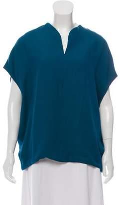 Hermes Silk Blend Sleeveless Blouse