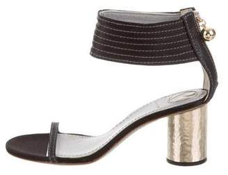 Reed Krakoff Satin Ankle Strap Sandals