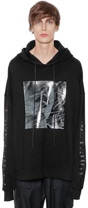 Juun.J Hooded Printed Cotton Sweatshirt