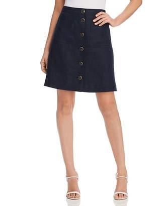 Tory Burch Button-Front Linen Skirt