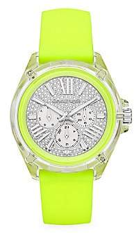 Michael Kors Wren Multifunction Neon Yellow Silicone Chronograph Watch