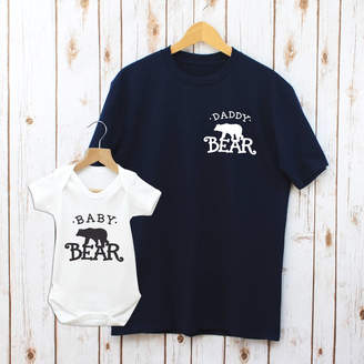 fc721cb5 Betty Bramble Father's Day Daddy Bear And Baby Matching T Shirt Set