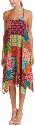 Trina Turk Alverta Silk-Blend A-Line Dress