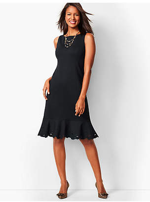 Talbots Ponte Embroidered Sheath Dress