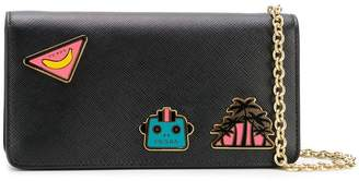 Prada logo patchwork shoulder bag