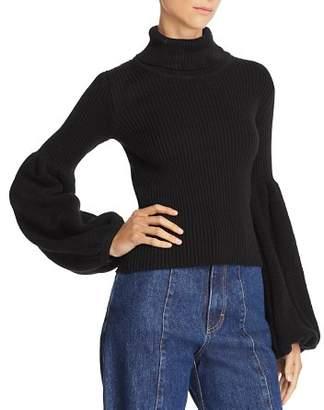 Ksenia Schnaider Poet-Sleeve Turtleneck Sweater