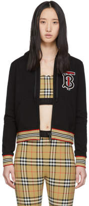 Burberry Black Icon Stripe Hoodie