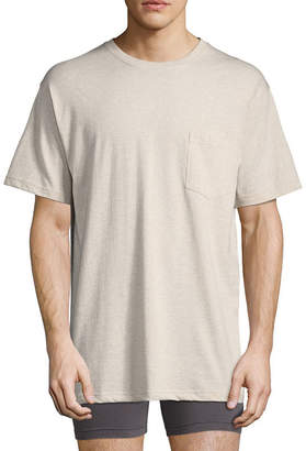 STAFFORD Stafford Performance Blended Cotton Heavyweight Crew Pocket Comfort Tee with Wicking