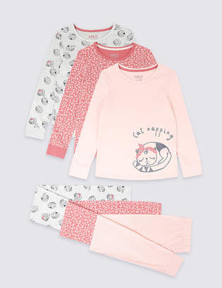 Marks and Spencer 3 Pack Pyjamas (3-16 Years)