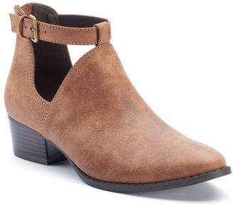 LC Lauren Conrad Women's Exposed Ankle Boots $69.99 thestylecure.com