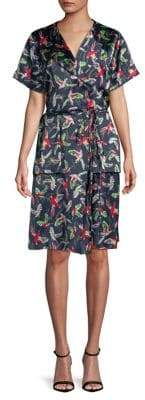 HUGO Koselli Parrot Print Wrap Dress