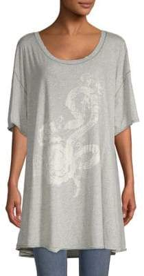 Free People Alpha Oversized Cotton Tee