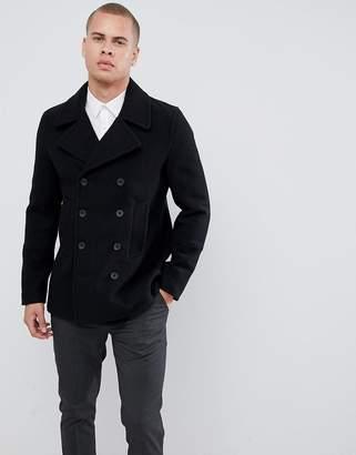 New Look wool peacoat in black