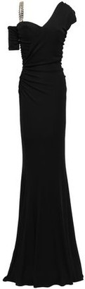 Roberto Cavalli Cold-shoulder Embellished Stretch-jersey Gown