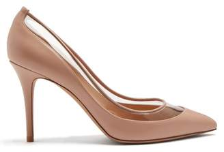 Valentino Glassglow Detachable Bow Leather Pumps - Womens - Nude