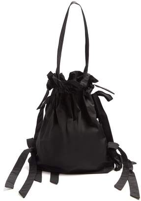 Simone Rocha Bow Detail Taffeta Shoulder Bag - Womens - Black