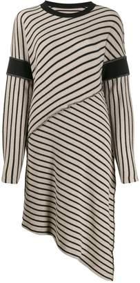 MM6 MAISON MARGIELA striped asymmetric dress