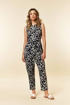 5a91f53c785c WallisWallis PETITE Black Floral Print Jumpsuit. Wallis WallisWallis ...