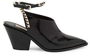 2186f80502d Valentino Women s Rockstud No Limit Leather Mules