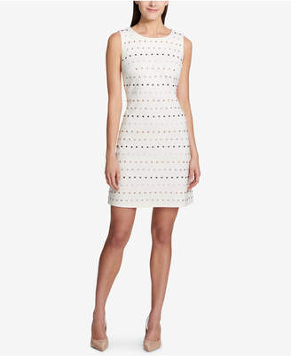 Tommy Hilfiger Embellished Ponte-Knit Shift Dress