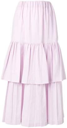 Golden Goose long ruffled skirt