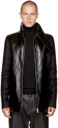 Rick Owens Black Bound Brother Plain Jacket