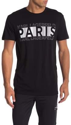Karl Lagerfeld KL Paris Reflective Crew Neck Logo Tee