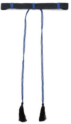 Binetti Love Self Tie Woven Belt - Womens - Black