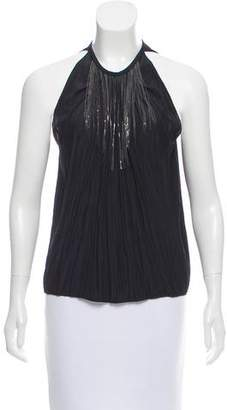 Ramy Brook Embellished Chain-Link Top w/ Tags