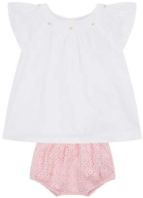 Polo Ralph Lauren Flower Detail Top and Bloomers Set