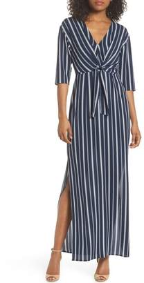 Charles Henry Knot Front Maxi Dress