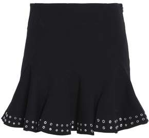 Derek Lam 10 Crosby Pleated Eyelet-Embellished Stretch-Cotton Mini Skirt