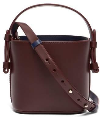 Nico Giani - Adenia Mini Leather Bi Colour Bucket Bag - Womens - Burgundy Multi