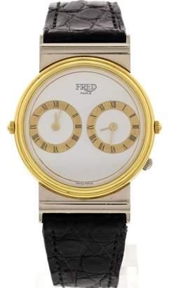 Fred Paris Reversible 18K Yellow & White Gold Watch
