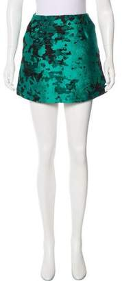 Michael Van Der Ham Patterned Mini Skirt