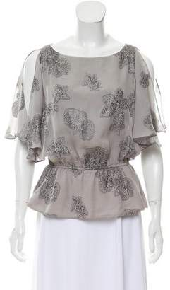 Halston Printed Cinched Top