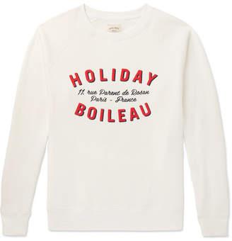 Off-White Holiday Boileau - Printed Fleece-Back Cotton-Jersey Sweatshirt - Men