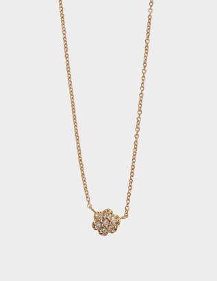 ginette_ny Lotus Mini Diamond gold and diamond neckalce