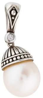 Lagos Pearl & Diamond Luna Enhancer Pendant