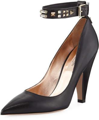 Valentino Precious Napa Ankle-Wrap Pumps