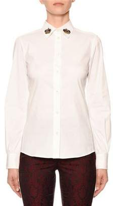 Dolce & Gabbana Embellished-Collar Button-Front Blouse
