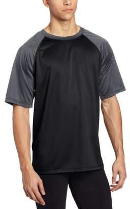 Kanu Surf Men's Contrast Rashguard UPF 50+ Swim Shirt