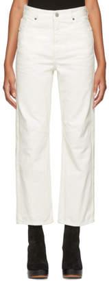 MM6 MAISON MARGIELA White Garment-Dyed Jeans